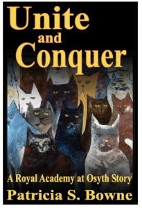 sinister cats look out of the cover for 'Unite and Conquer,' upcoming novella