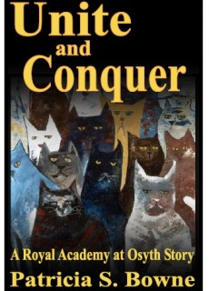 sinister cats look out of the cover for 'Unite and Conquer,' novella