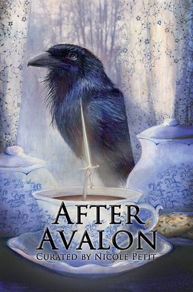 Cover of After Avalon; raven and sword in the snow